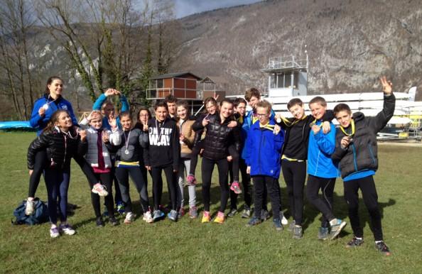 Les élèves de la section sportive aviron du collège de Novalaise ont décroché la médaille d'argent du championnat académique UNSS le 1er avril dernier!